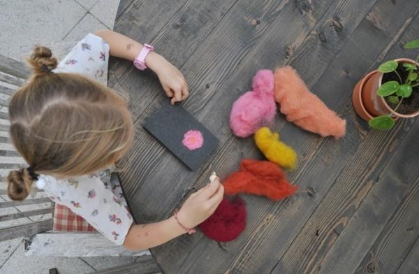 Nassfilzen Filzen Basteln mit Kindern Filzwolle Kinder DIY Projekte