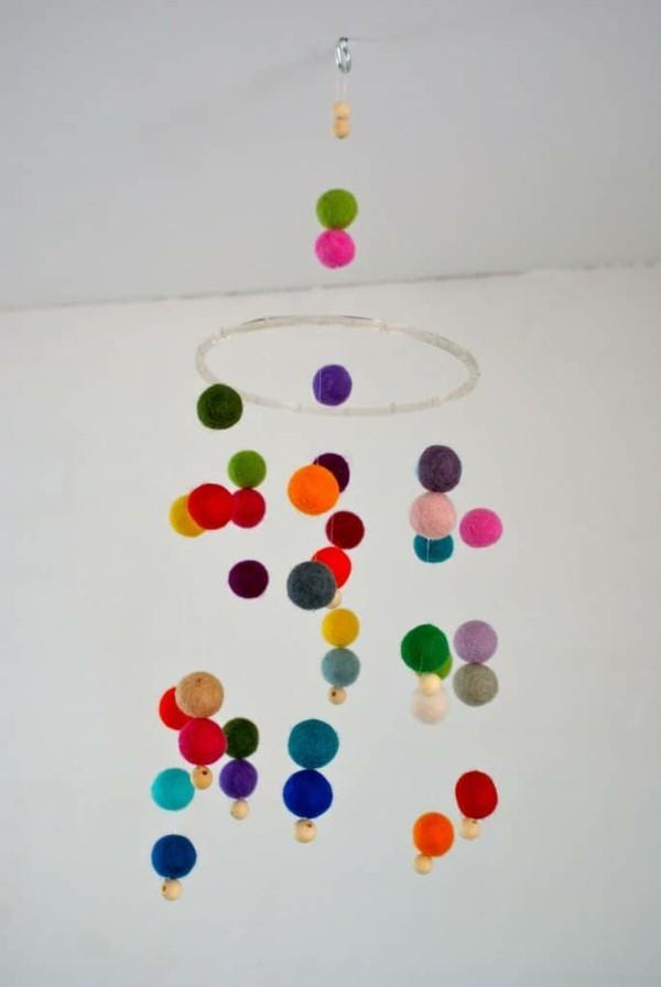 Nassfilzen farbige Filzdeko Filzen mit Kindern