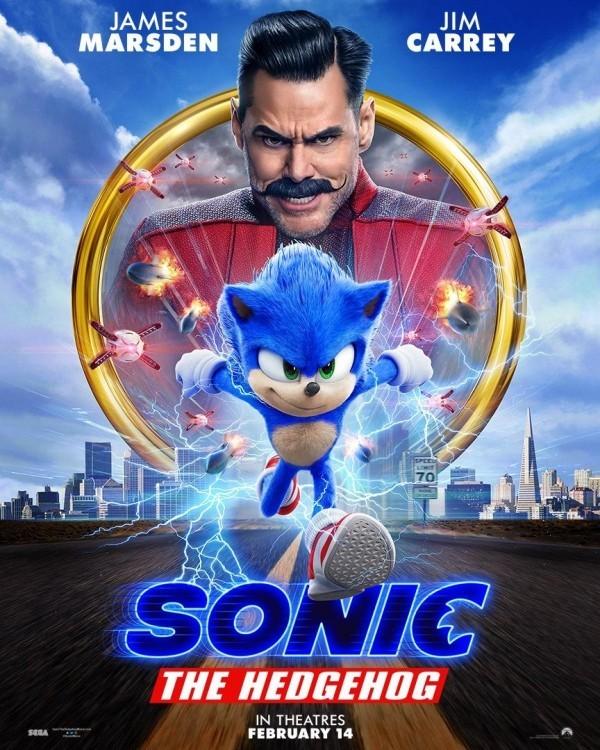 Sonic the Hedgehog sieht nach Redesign endlich wie sich selbst neuer poster für den film