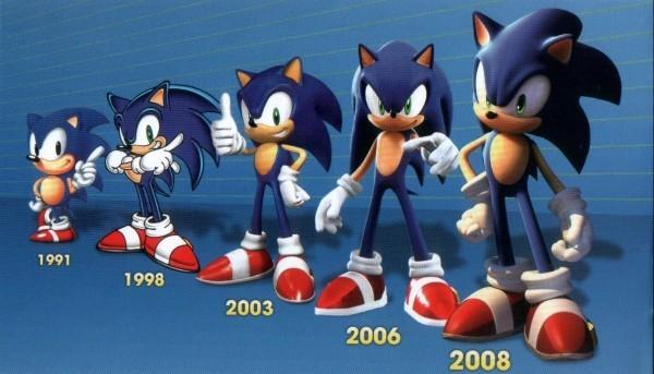 Sonic the Hedgehog sieht nach Redesign endlich wie sich selbst sonic über die jahre 1991 2008