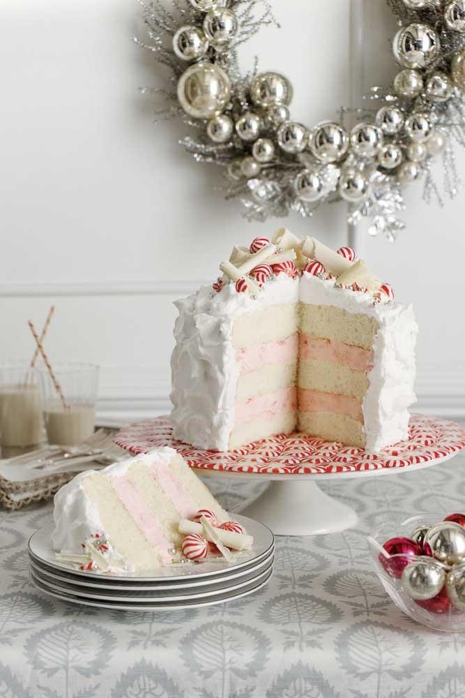 Weiße Torte Idee für Kuchendeko