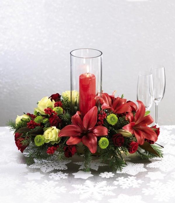 Weihnachtskranz - deko ideen - Kerzen dekorieren