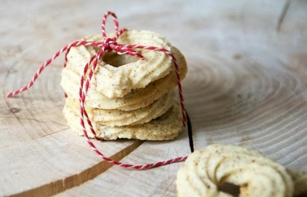 Weihnachtssüßigkeiten Vaniljekrans Kekse