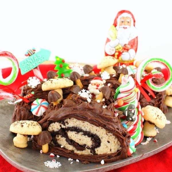 Weihnachtssüßigkeiten rund um die Welt buche de noel Weihnachtskuchen