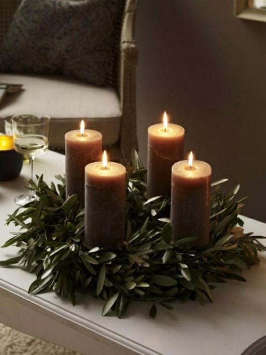außergewöhnliche adventskränze puristische deko mit eukalyptusblättern