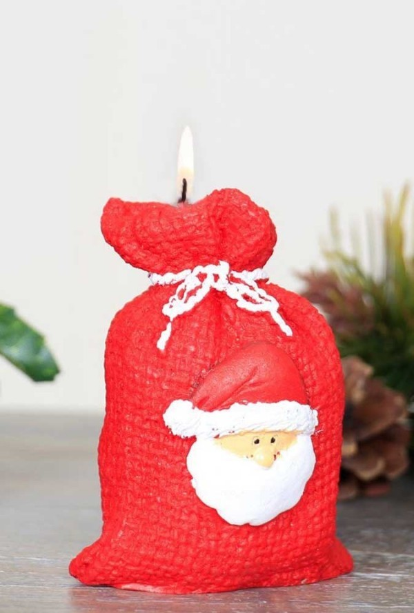 basteln mit kindern - ideen weihnachten kerzen