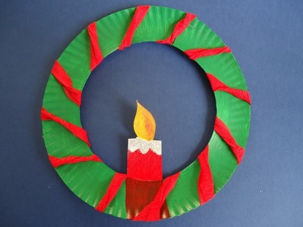 basteln mit kindern zu weihnachten pappteller bastelideen