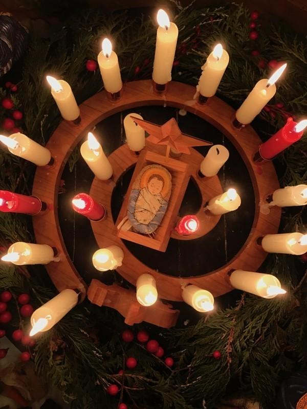 christkind weihnachtdeko adventsspirale