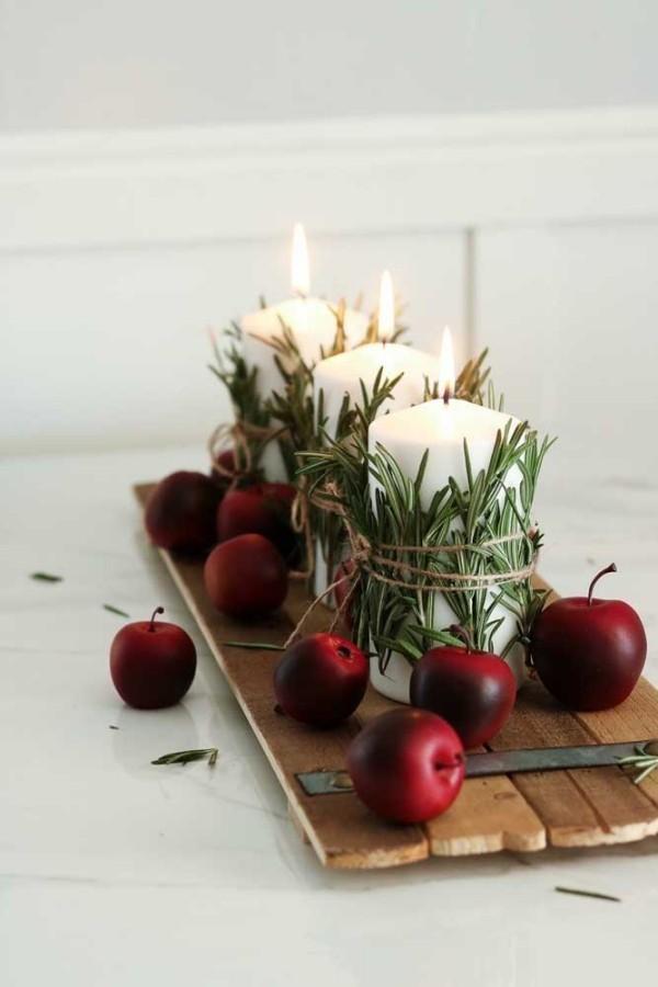 deko ideen für weihnachten kerzen