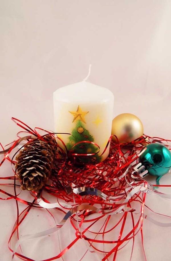 deko kerzen weihnachten - ideen