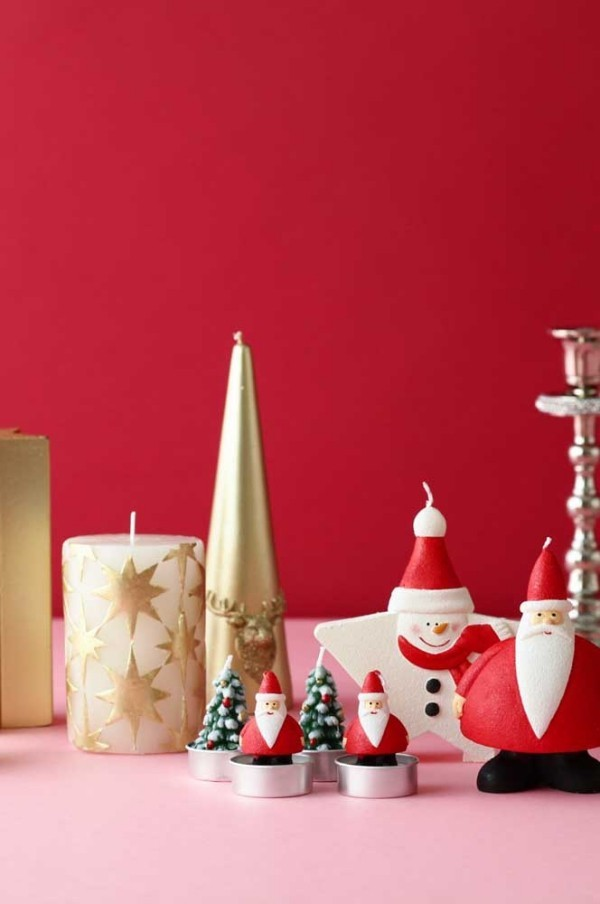 deko weihnachten hintergrund rot kerzen weihnachten