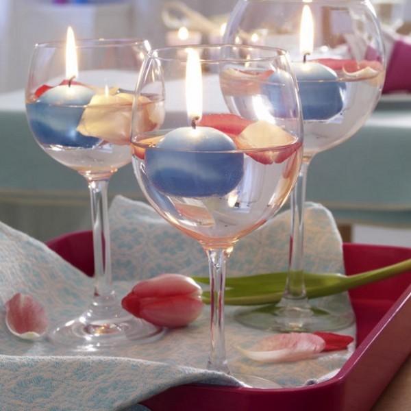 glas deko Weihnachtsdeko Kerzen dekorieren