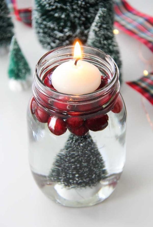 glas dekoration idee kerzen weihnachten