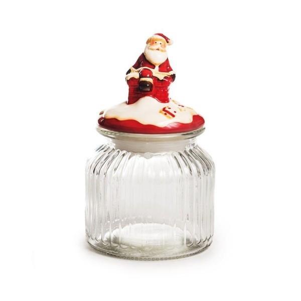 glas mit weihnachtsmann - weihnachten deko