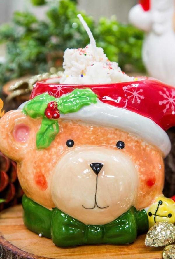 idee zum selber basteln kerzen weihnachten