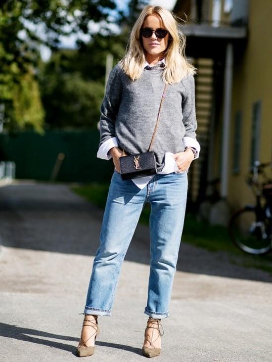 jeans trends 2019 herbstmode trendige jeans