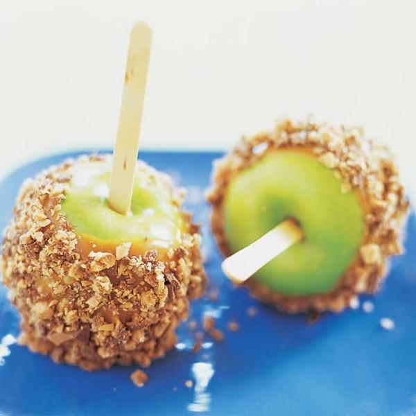 kandierte Äpfel Karamelapfel Nuss Süßigkeiten