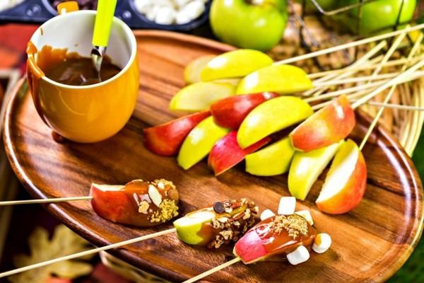 kandierter Apfel Weihnachtssüßigkeiten Karameläpfel Stück