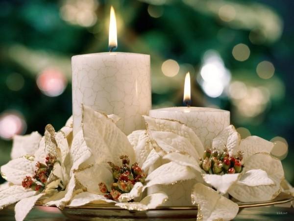 kerzen blumen ideen Kerzen dekorieren