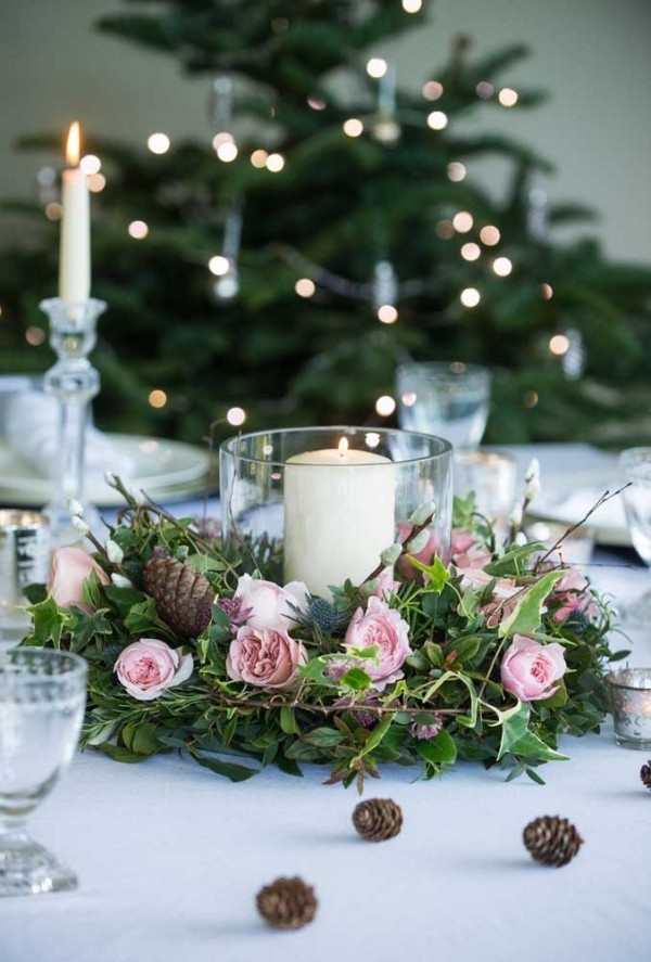kerzen weihnachten dekoration kranz