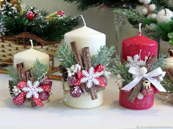 kerzen weihnachten drei kerzen deko ideen