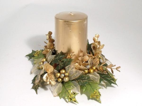 kerzen weihnachten eine goldene kerzte