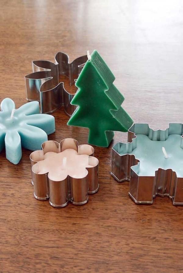 kerzen weihnachten kerzendeko vier nuancen