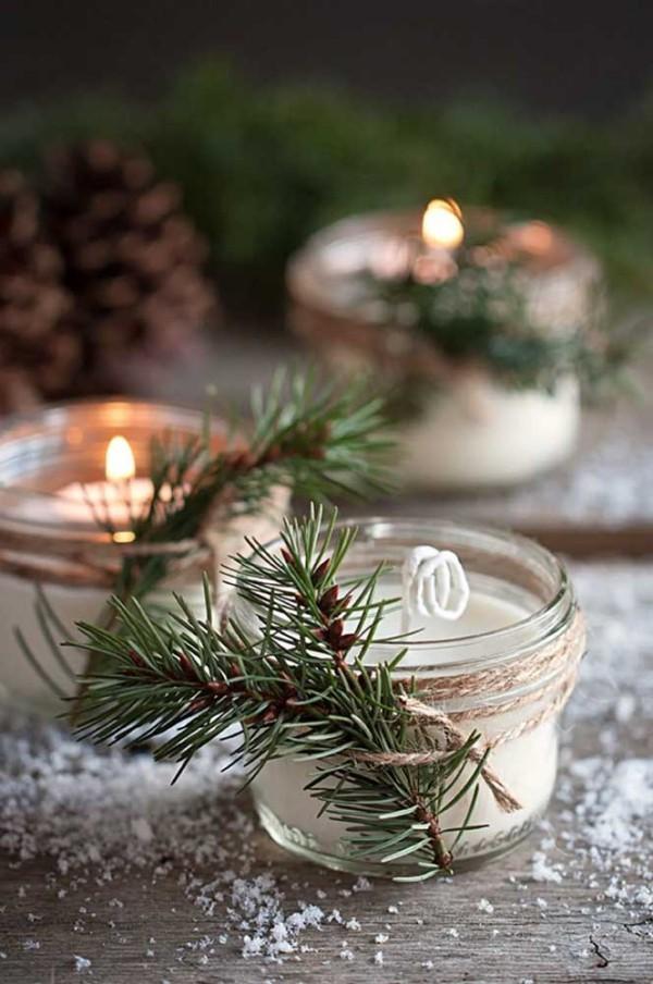 kerzen weihnachten kleine deko ideen