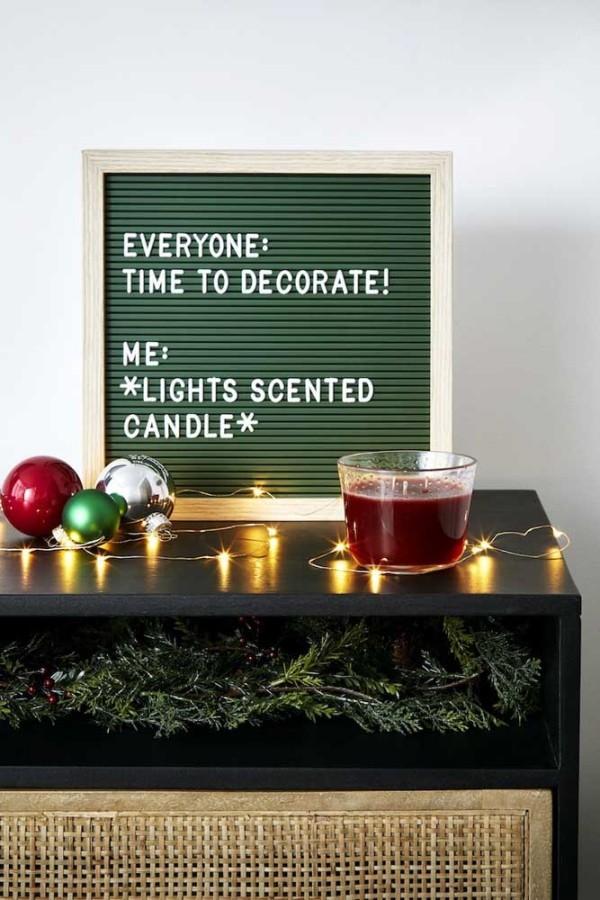 kerzen weihnachten moderne wandgestaltung ideen