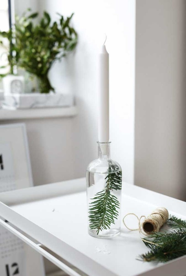 kerzen weihnachten - tolle idee für die wandgestaltung