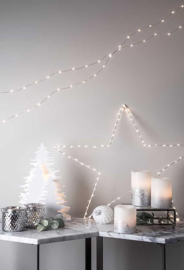 kerzen weihnachten weiße wandgestaltung deko