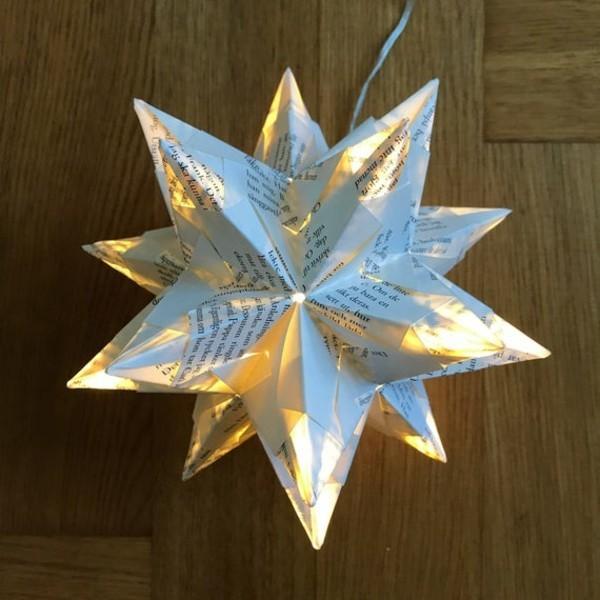 leuchtende Bascetta Sterne basteln Anleitung Weihnachtssterne basteln