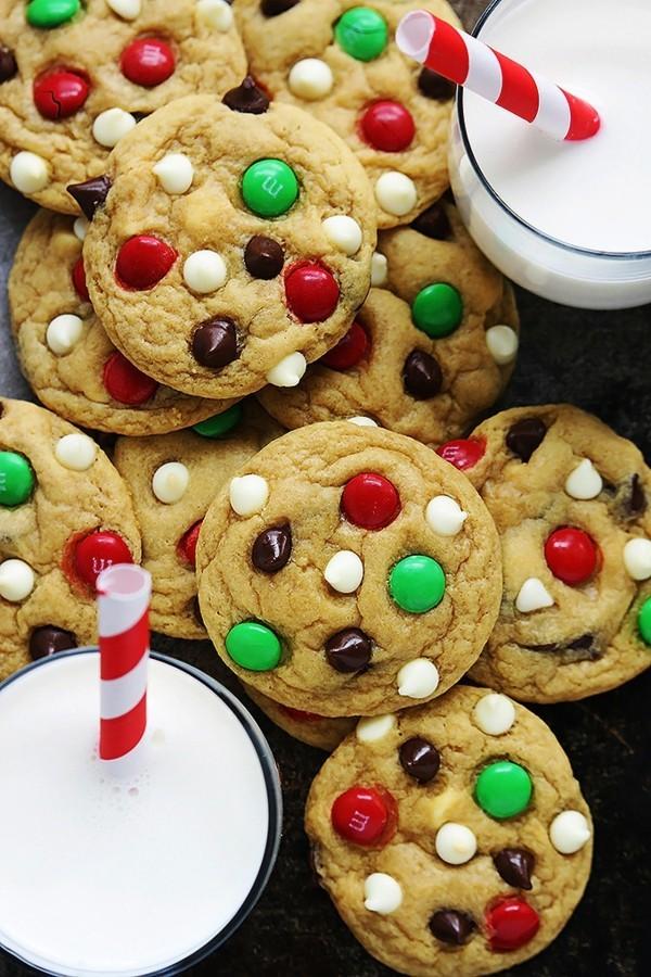 mms plätzchen dekorieren zu weihnachten