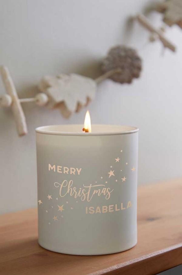 neutrale dekoration kerzen weihnachten