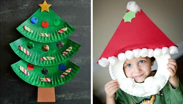 originelle ideen bastelideen pappteller weihnachten