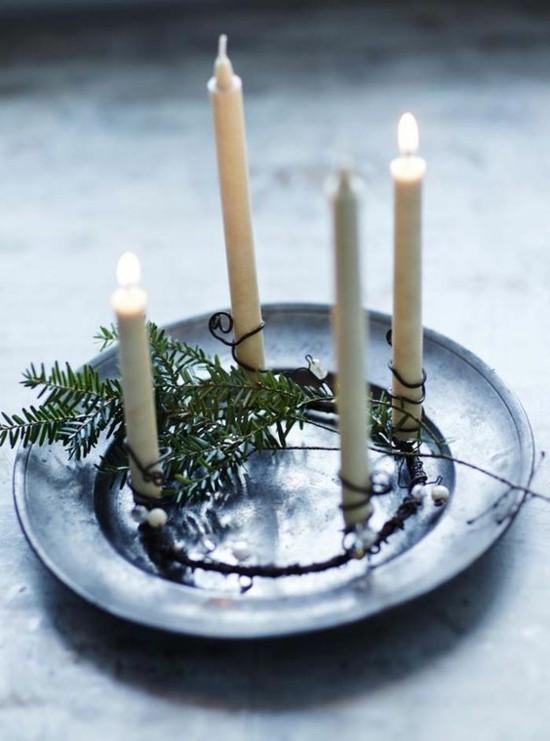 originellen adventskranz dekorieren puristische deko