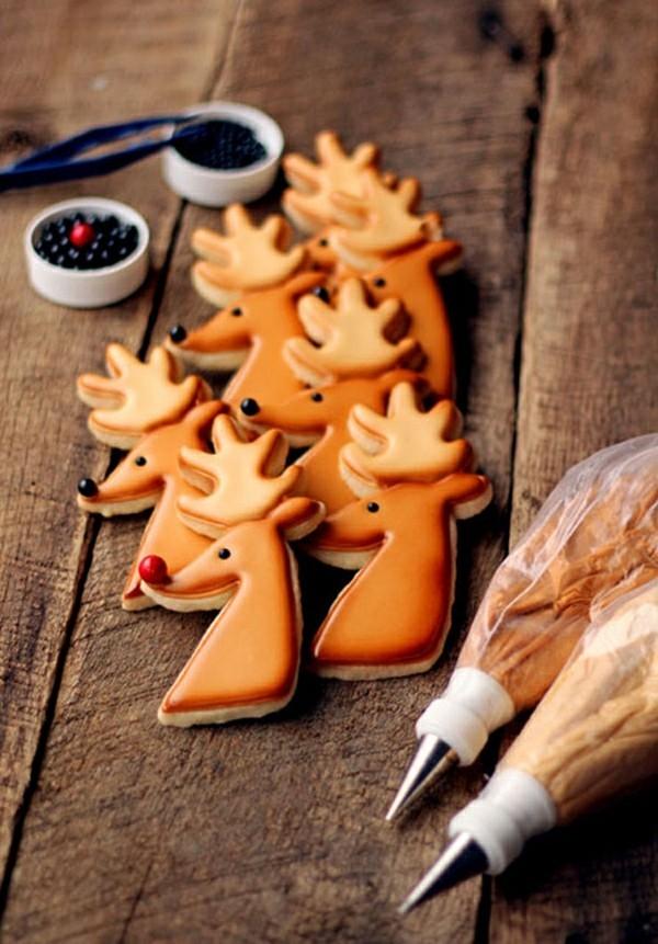 rentier plätzchen dekorieren zu weihnachten