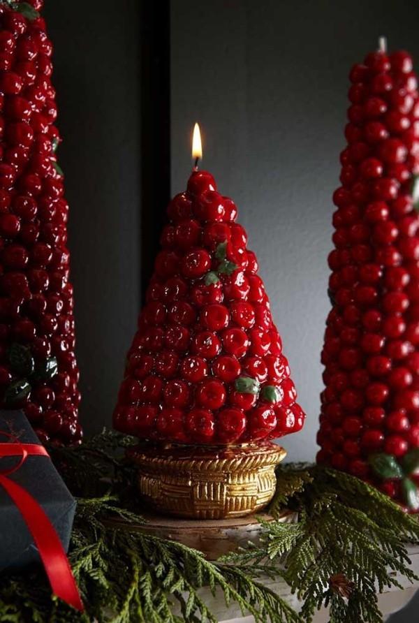 tannenbaum deko weihnachten kerzen ideen dekoration