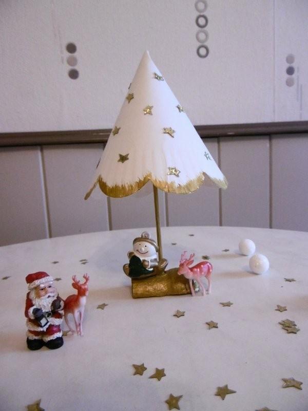 tischdeko weihnachten basteln mit papptellern