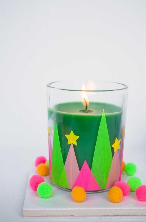 tolle kerzen weihnachten im glas