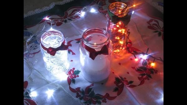 tolle tischgestaltung kerzendeko weihnachten deko