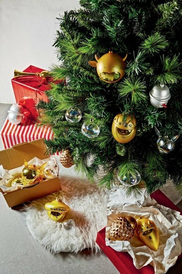 tolle weihnachtskugeln - wunderbare weihnachten deko