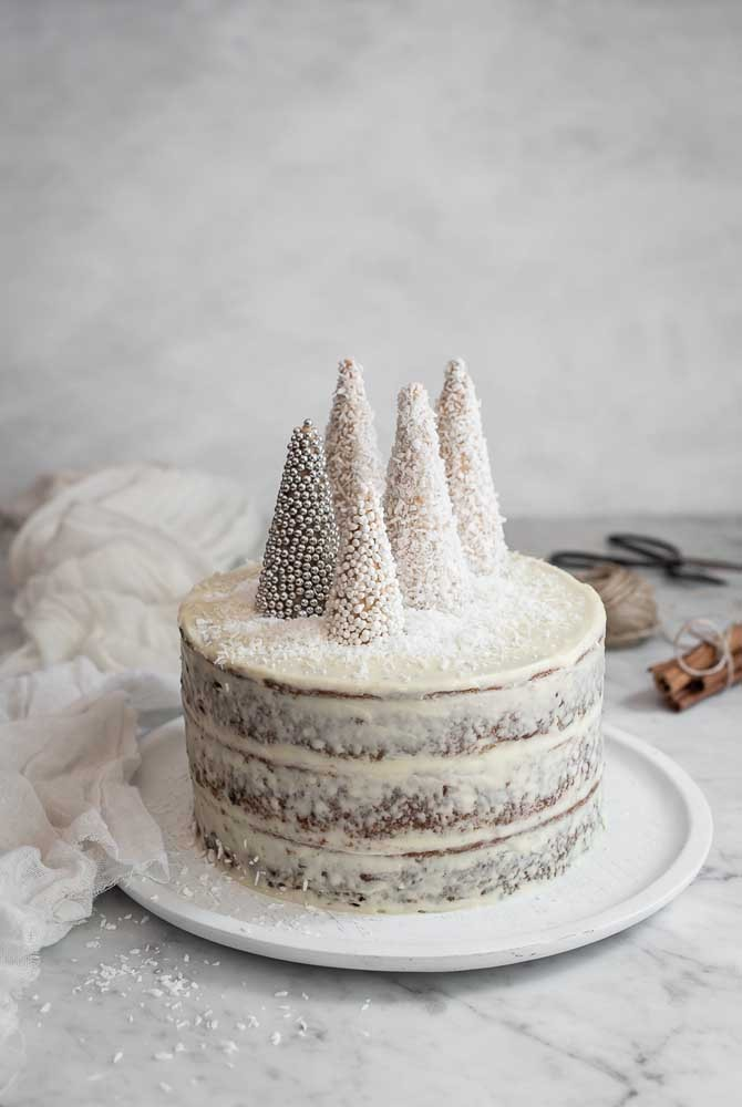 weiße Kuchenideen Tortrendeko
