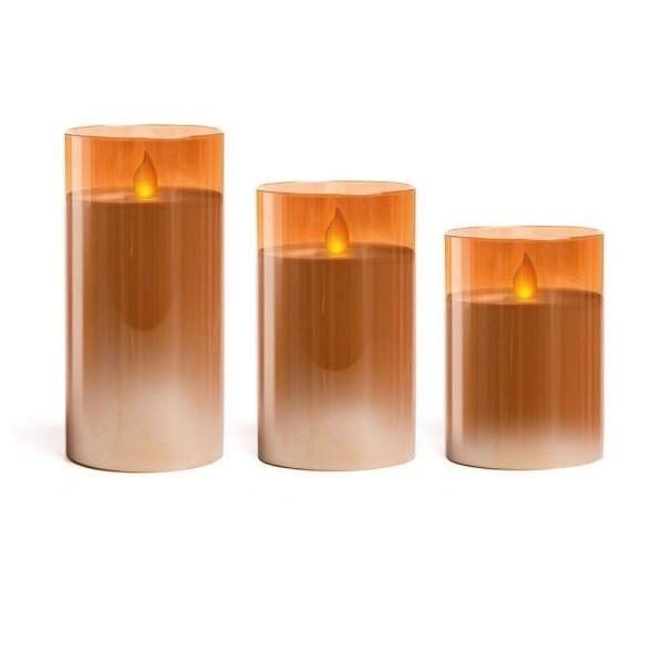 weihnachten deko - drei tolle Kerzen Kerzendeko