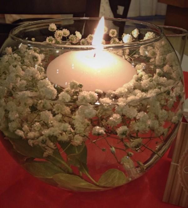 weihnachten deko - glas mit kerzendeko ideen