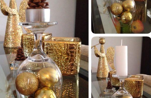 weihnachten deko - goldene kugeln