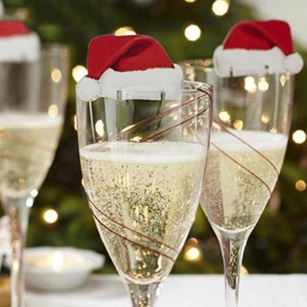 weihnachten deko sekt gläser weihnachtsdeko