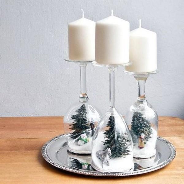 weihnachten deko weiß und tannenbaum