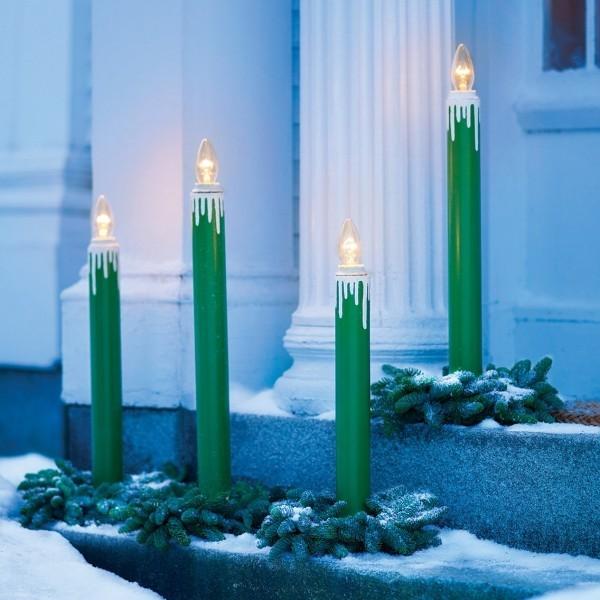 weihnachten kerzen blaue deko ideen