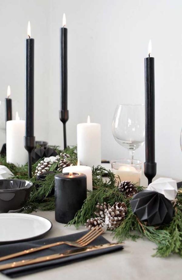 weihnachten kerzen elegante kerzen für den tisch